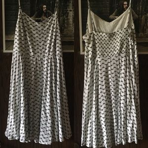 White fit and flair summer dress
